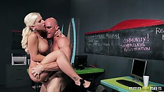 Bald monster Johnny Sins knows how hard it is for the girl to feel his cock in tight bum