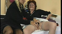 After masturbating alone, they join up and do it for each other