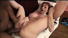 Curvaceous MILF gets herself a big serving of hard black dick
