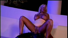 Busty as hell blonde slut gets her tight cunt pummeled balls deep