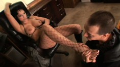 Hot babe Nicki Hunter is done by Anthony Rosano in wild action and sperm sucking