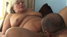Chunky mature woman invites a black stud to satisfy her sexual urges