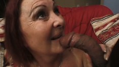 Naughty mature lady with huge boobs and a big booty is on the prowl for a black cock