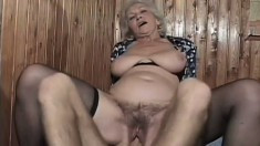 Ursula is a granny who hasn't fucked in a while, but she didn't miss a step