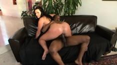 Voluptuous brunette Corina Jayden feeds her passion for black dick