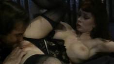 Fiery redhead Sarah Jane Hamilton getting banged hard by Mike Horner