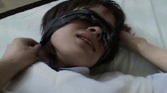 Blindfolded Asian school girl gets her barely legal holes pounded