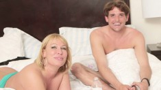 Gorgeous MILFs with great tits talk about what they like in a man
