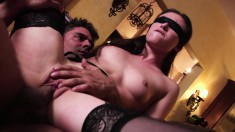 Casey Calvert engages in some intense fucking blindfold action