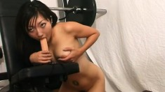 Yume loves working her cunt out at the gym with naughty toys