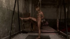 Sensual blonde Greta is a kinky girl who enjoys being tied up