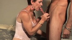 Mature Blonde Sucks On His Joint And Gets Her Moist Hole Pumped