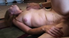 Slutty redhead milf gets her aching snatch eaten out and pounded good