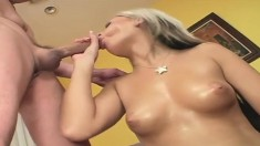 Ravishing blonde Barbie Addison takes Nick East's hard pole for a ride