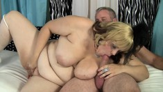 Huge breasted blonde Bella gets her pussy banged the way she loves it