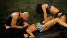 Enticing Bondage Fetishist Marina Angel Gets Punished With Big Dildos