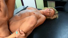 Stacked Blonde With Glasses Fulfills Her Need For Cock In The Office