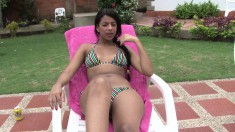 Big Ass Latina Bollito Goes In From Sunbathing To Eat And Bang His Rod