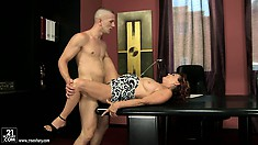 Mature Latina, Lupita, gets rammed hard then is rewarded with a facial