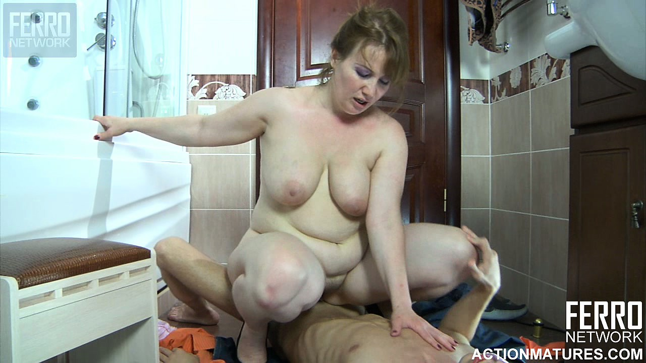 Mom spanked her on her jeans