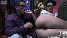 Horny Inessa can't get enough of Morgan's throbbing XXL piston