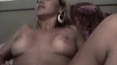 Amateur cocksucker makes sure his cock is hard before fucking it