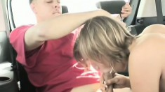Tiffani Rox gets at it with a hung dude in the back of a car