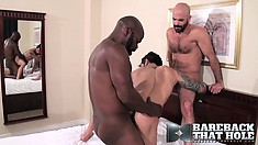 CutlerX, Adam Russo and Draven Torres indulge in interracial gay sex