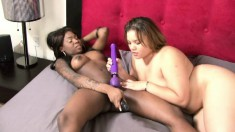 Tatiyana Foxx gets into a fuck fest with another girl and uses toys