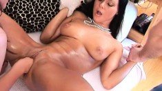 Sensual Valentina spreads her legs and gets her hot twat worked