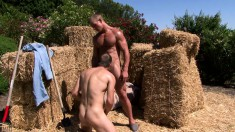 Smoking hot guy can't get enough of playing with a thick piece of man meat