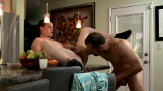Experienced Gay Stud Has Hot Sex With A Gorgeous Twink In The Kitchen