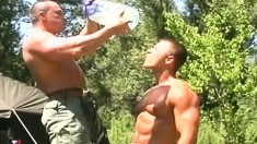 Ripped Military Men Nikolas Kiss, Marko Pacyna And Zoltan Kopre Engage In Outdoor Gay Sex