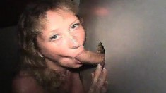 Beautiful Blonde With Big Hooters Milks Gloryhole Dicks With Her Lips