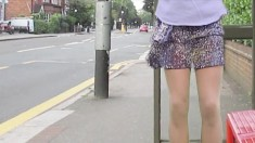 Upskirt Outdoor Panties