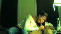 Ebony BJ and cum swallow