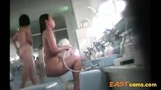 Voyeur - Japan. Young Woman Bathes.
