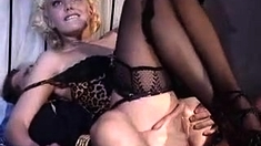 Stockings And Lingerie Clad British Milf Pussy Slammed