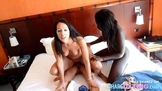 German Girl And Black Girl Fuck Hotel Waiter