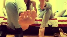 Beautiful Brunette Foot Fetish