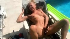 German Amateur Babe Outdoor Analplug Masturbation ww